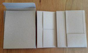Gift card folio box